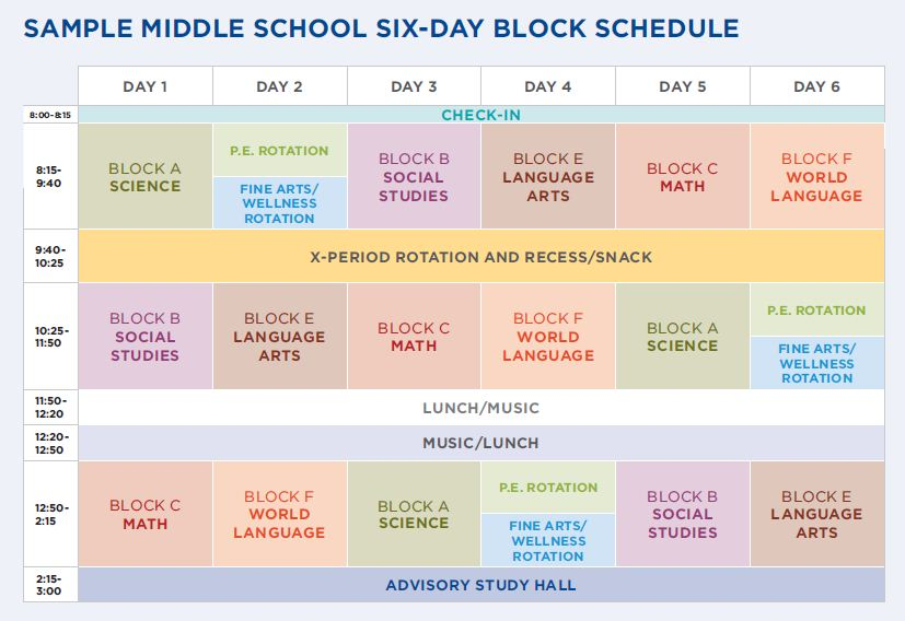 st paul academy and summit school the six day schedule